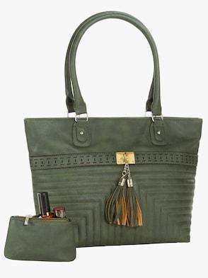 Handtasche mit Etui - grün