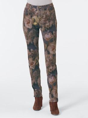 CREATION L PREMIUM Jeans van lyocell en katoen - bont