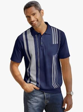 Poloshirt - jeansblauw geprint