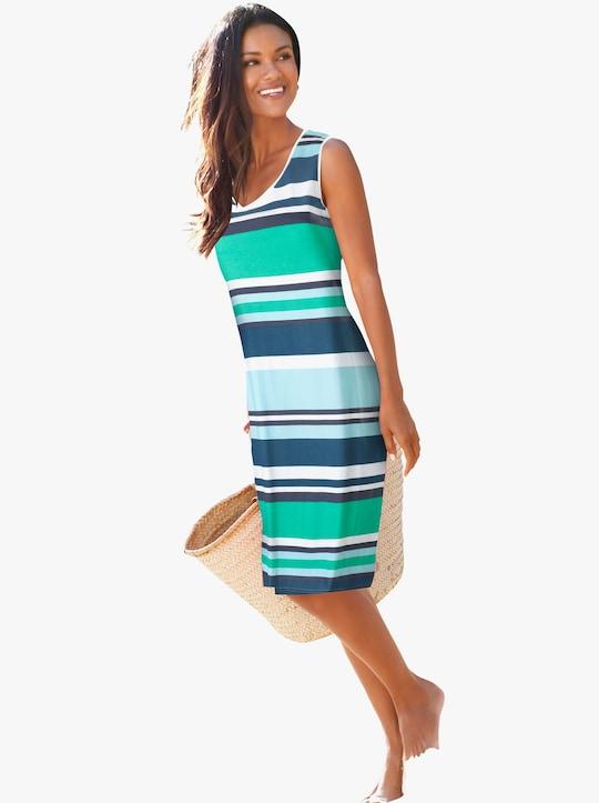 feel good Letné šaty - modrá pásikovaná