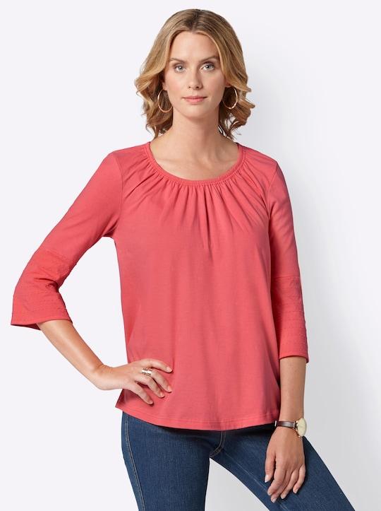 Shirt - koraalrood