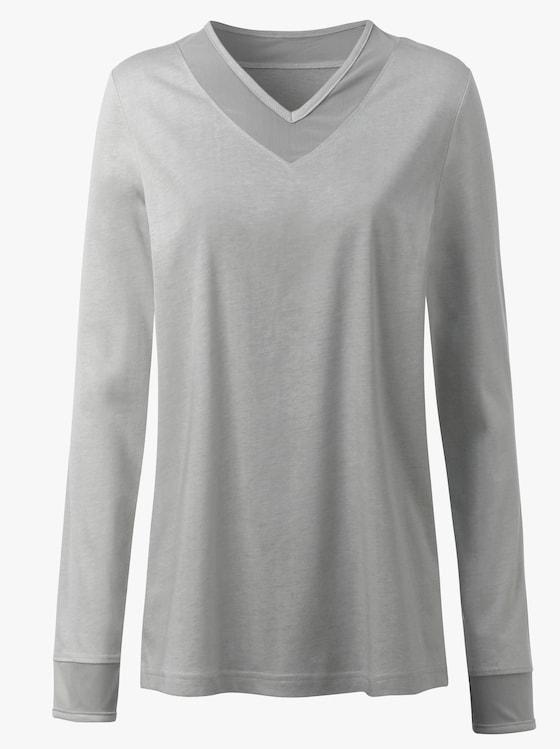 Schlafanzug-Shirt - silbergrau