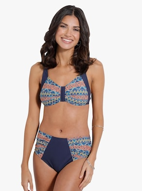 Bikini-byxa - marin-färgglad, med tryck