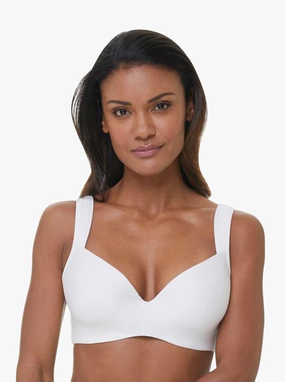 T-Shirt-BH mit Bügel - weiß