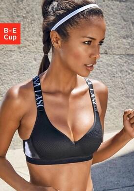 LASCANA ACTIVE Sport-BH - schwarz-weiß