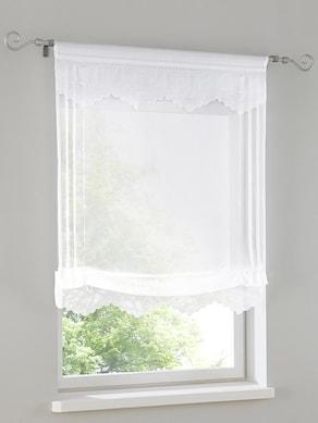 heine home Bändchenrollo - weiß