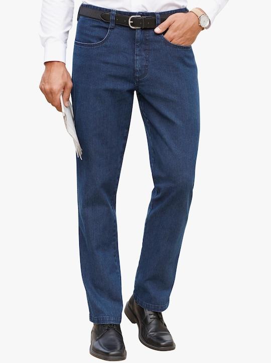 Jeans mit Gürtel - blue-stone-washed