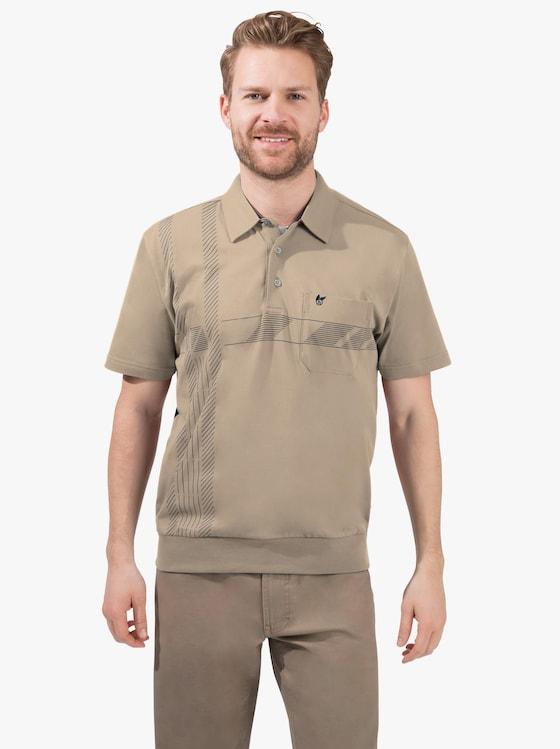 Hajo Kurzarm-Poloshirt - beige