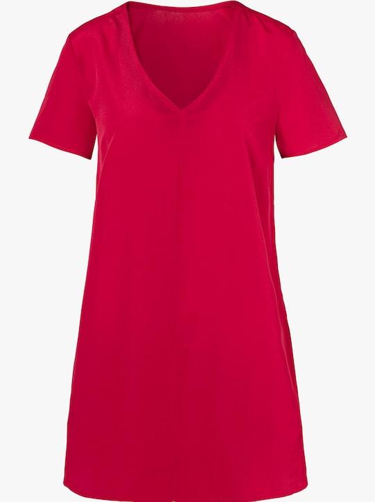 Longline blouse - rood