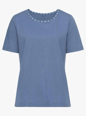 Shirt - bleu-meliert