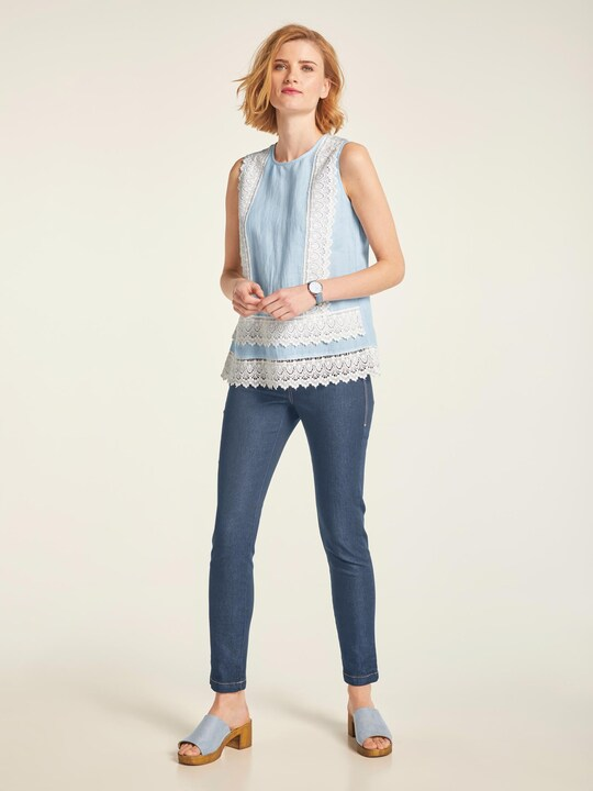 Linea Tesini Leggings - blue denim