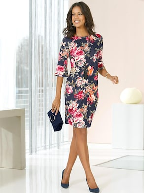 Fair Lady Jersey-Kleid - bunt-bedruckt