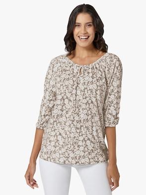 Shirt - taupe-gemustert