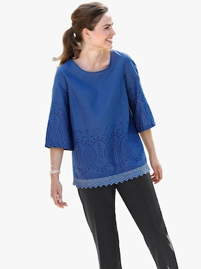Bluse - kobaltblau