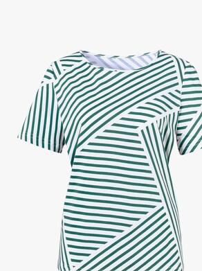 Tričko - zelená-proužek