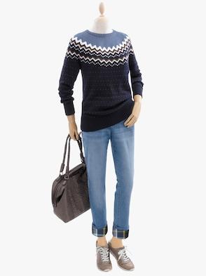 Pullover - marine-bleu-gemustert