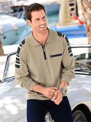 Poloshirt met lange mouwen - beige