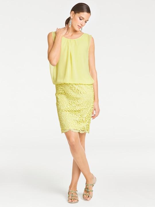 Patrizia Dini Spitzen-Kleid - gelb