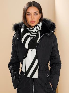 heine Schal - schwarz-weiß