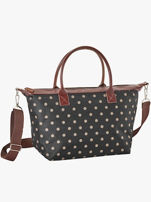 Handtasche - schwarz-braun