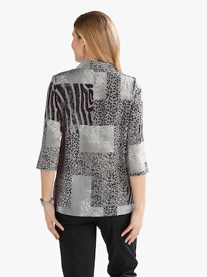 Bluse - grau-bedruckt