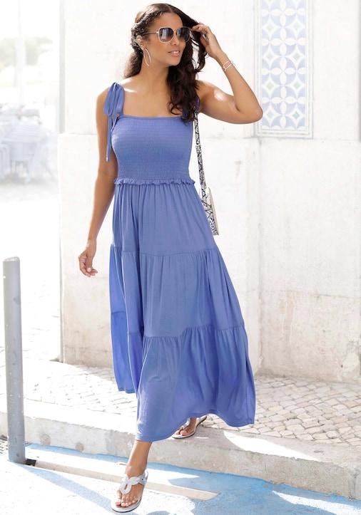 LASCANA Maxi-jurk - blauw