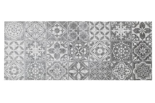 wash&dry Fußmatte - grau-weiß