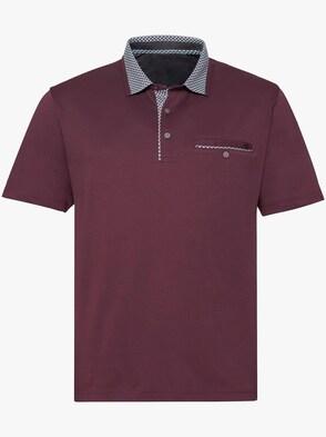 Kurzarm-Shirt - bordeaux