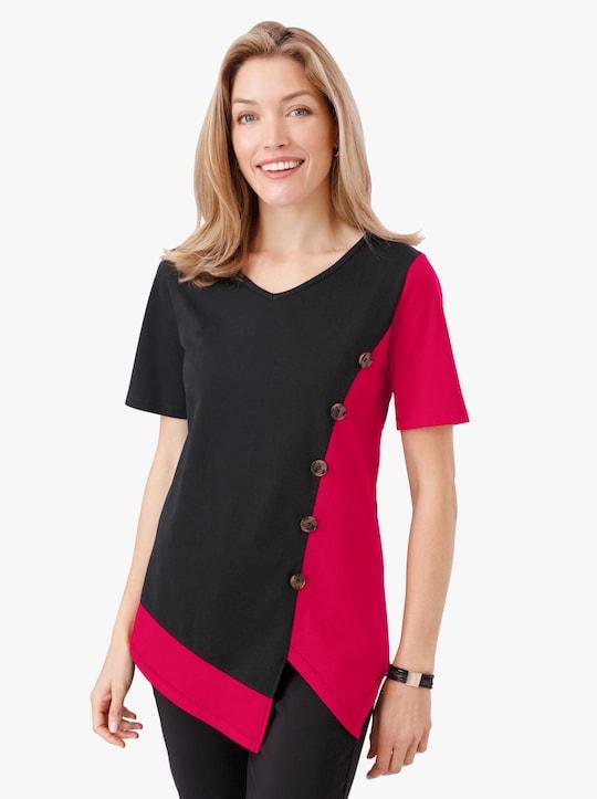 Shirt - rood/zwart