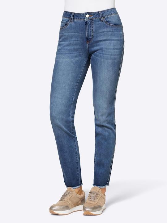 Rick Cardona Jeans - blue-stone-washed