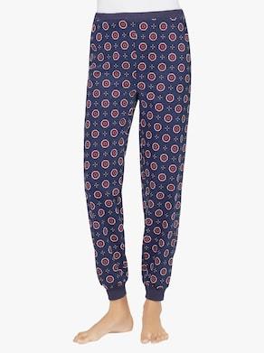 Pyžamové nohavice - tmavomodrá potlač