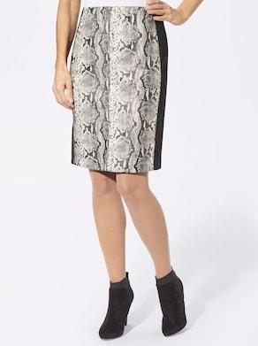 Rock - grau-schwarz-bedruckt
