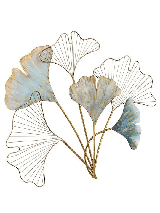 heine home Wanddeko Blätter - blau-goldfarben