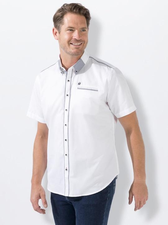 Marco Donati Kurzarm-Hemd - weiß