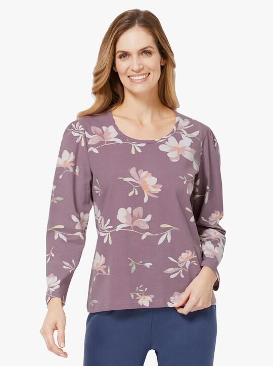 Plantier Shirt - violett-gemustert