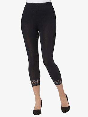 Žerzejové kalhoty - černá